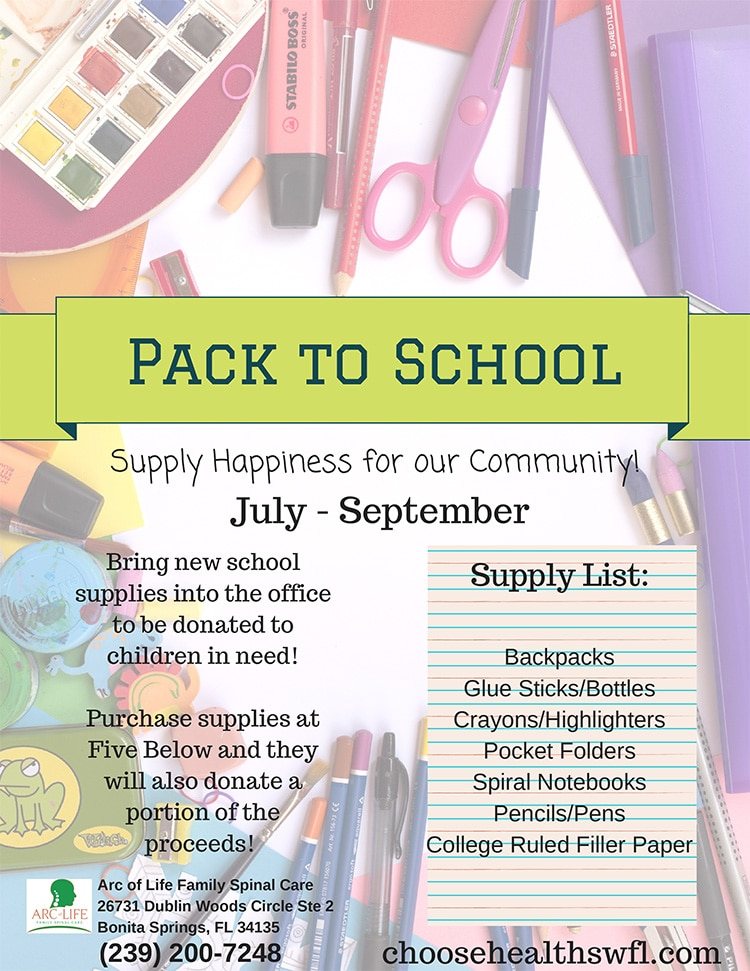 Pack to School Flyer Bonita Springs FL