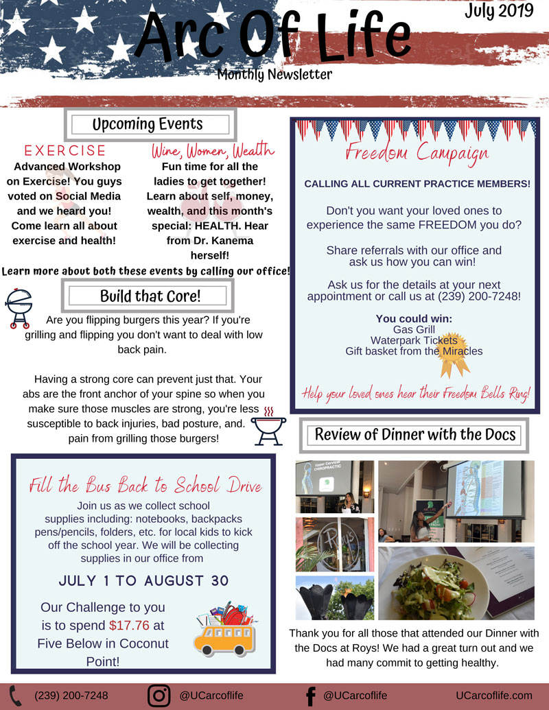 Monthly Newsletter at Arc of Life
