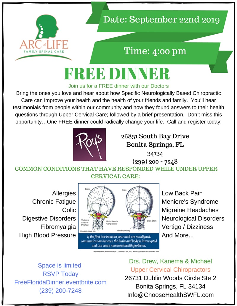 Free Dinner at Arc of Life Family Spinal Care