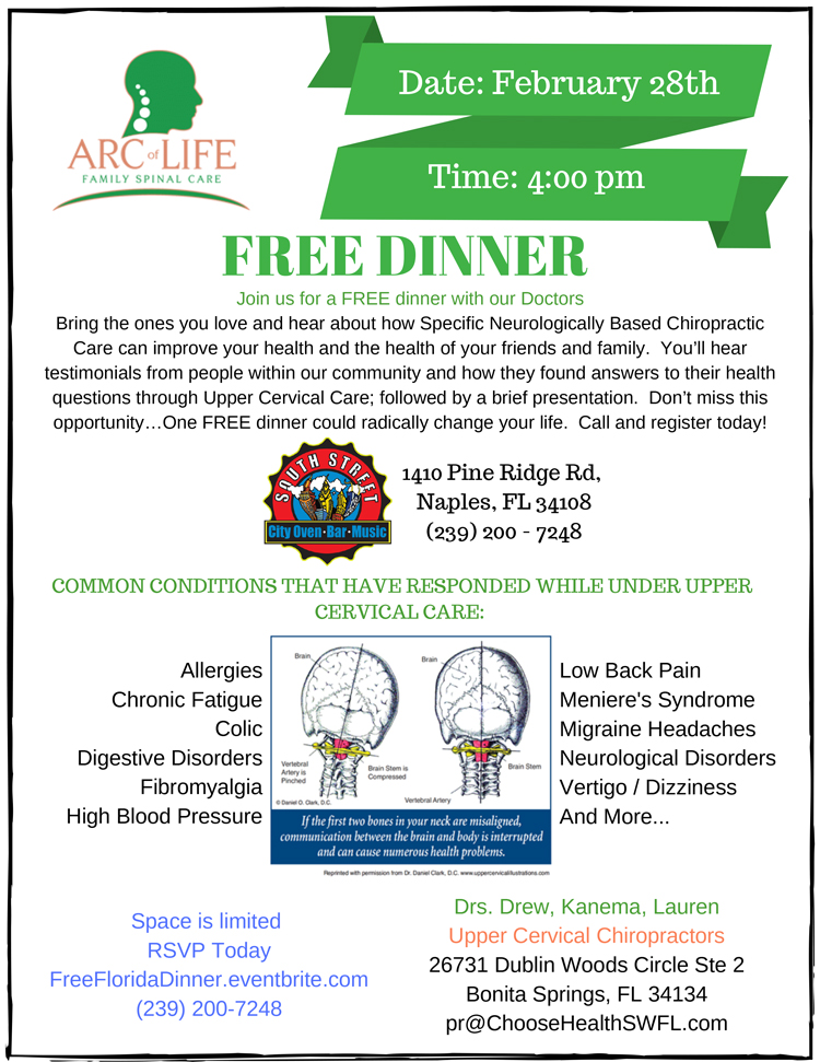 Chiropractic Bonita Springs FL Upcoming Event at Arc of Life Family Spinal Care